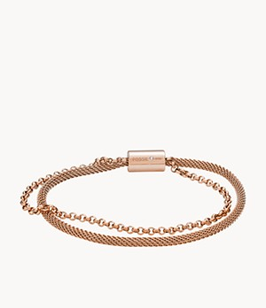 Rose Gold-Tone Steel Bracelet