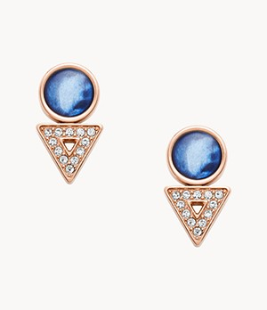 Damen Ohrringe Geometric Rose Gold-Tone Stainless Steel Earrings