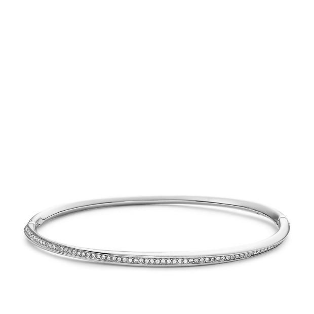 Fossil Unisex Bracelet Torsadé En Acier Inoxydable Argent - One size