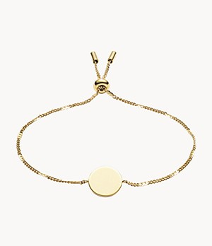 Damen Armband Disc Gold-Tone Stainless Steel Bracelet
