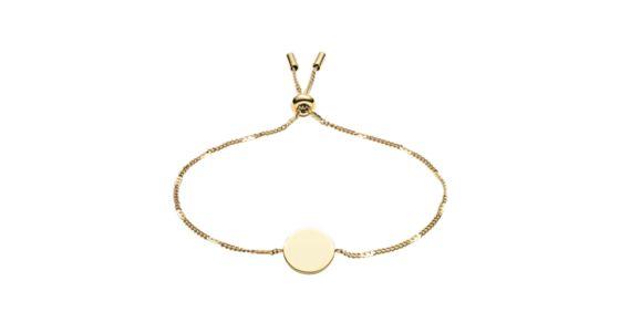 Bracelet Disc Gold Damen Armband Stainless Steel Tone wiPXlOkTZu