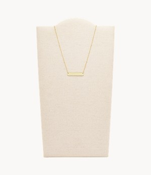 Damen Halskette Plaque Gold-Tone Stainless Steel Necklace