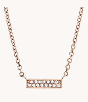 Rose-Gold-Tone Stainless Steel Glitz Necklace
