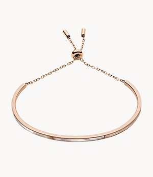 Bar Rose Gold-Tone Stainless Steel Bracelet