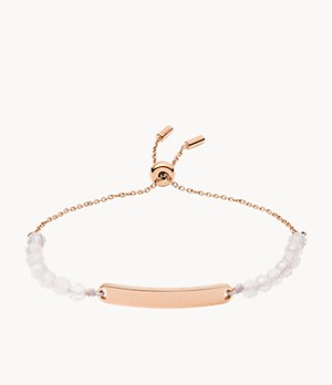 Damen Armband Plaque Rose Quartz