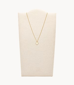 Heart Gold-Tone Stainless Steel Necklace