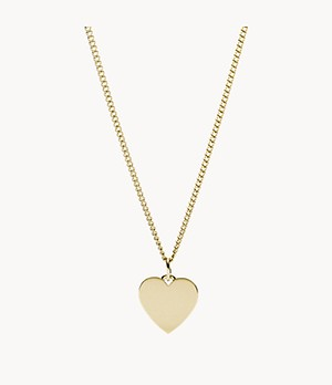 Damen Halskette Heart Gold-Tone Stainless Steel