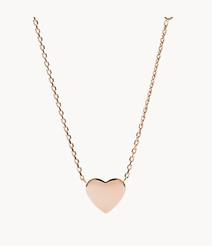 Heart Rose Gold-Tone Stainless Steel Necklace