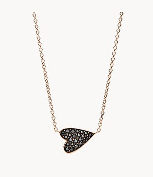 Damen Halskette Heart Rose Gold-Tone Stainless Steel Necklace