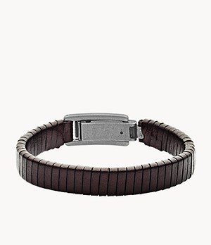 Herren Armband Wrapped Brown Leather Bracelet