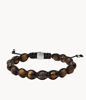 Tiger's Eye and Bronzite Bracelet