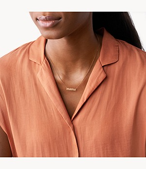 Mama Rose Gold-Tone Stainless Steel Necklace