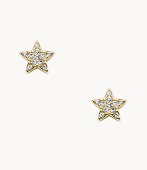 Star Gold-Tone Stainless Steel Studs