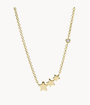 Shooting Star Gold-Tone Stainless Steel Necklace