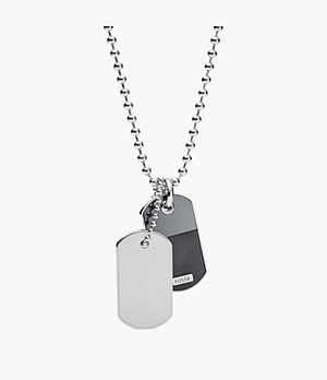 Duo Dog-Tag Stainless Steel Necklace