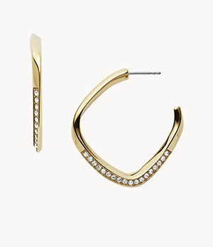 Damen Ohrringe Twisted Hoops