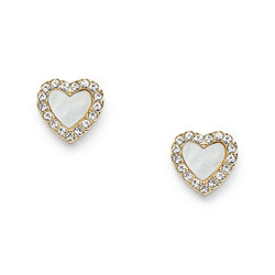 Heart Gold Tone Stainless Steel Studs