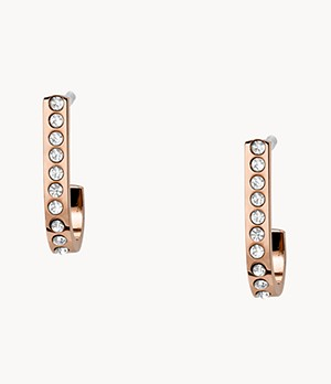 Rose-Gold-Tone Stainless Steel J-Hoops