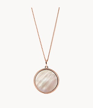 Damen Halskette - Coin Edge Mother Of Pearl