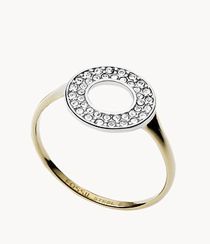 Two-Tone Steel and Glitz Ring