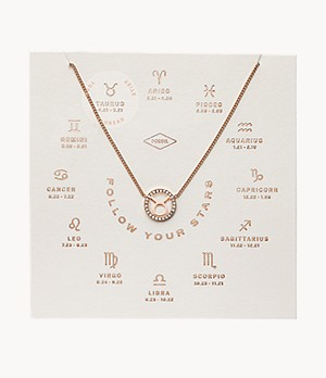 Taurus Pendant Rose Gold-Tone Stainless Steel Necklace