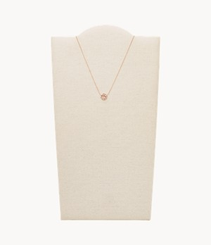 Virgo Pendant Rose Gold-Tone Stainless Steel Necklace