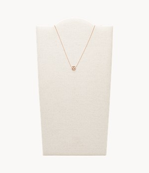 Libra Pendant Rose Gold-Tone Stainless Steel Necklace