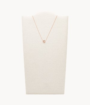 Scorpio Pendant Rose Gold-Tone Stainless Steel Necklace