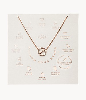 Sagittarius Pendant Rose Gold-Tone Stainless Steel Necklace