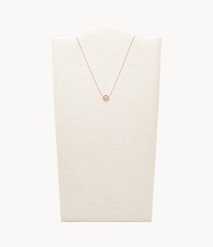Aquarius Pendant Rose Gold-Tone Stainless Steel Necklace