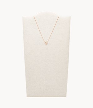 Pisces Pendant Rose Gold-Tone Stainless Steel Necklace