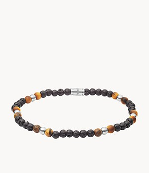 Tiger's Eye and Lava Stone Bracelet