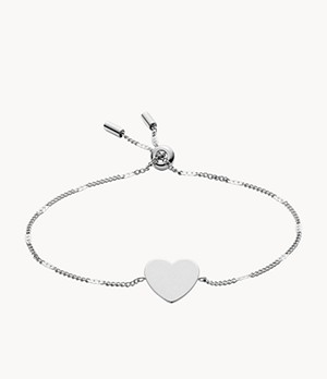 Engravable Heart Stainless Steel Bracelet