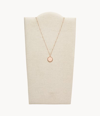 pink #OS10 Stainless steel collier Collier-neck ripe 45 cm