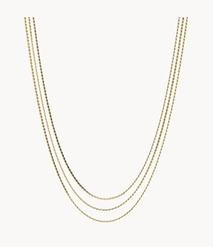Gold-Tone Stainless Steel Multi-Strand Necklace
