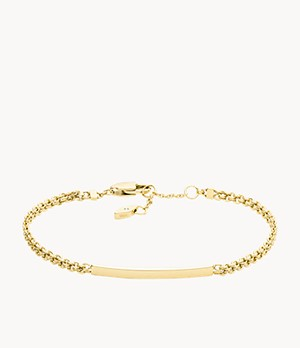 Gold-Tone Stainless Steel ID Bracelet