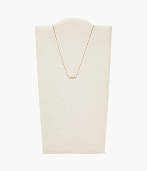 Stacked Hearts Rose Gold-Tone Stainless Steel Chain Necklace
