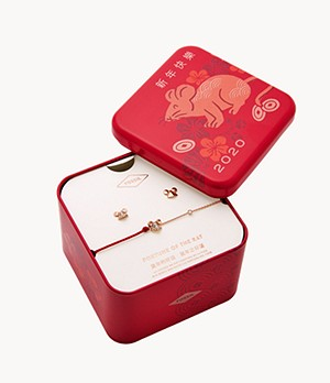 Lunar New Year Red Stainless Steel Set