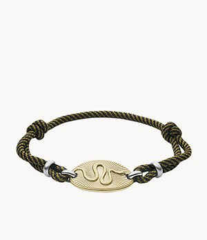 Serpent Gold-Tone Stainless Steel Station Bracelet