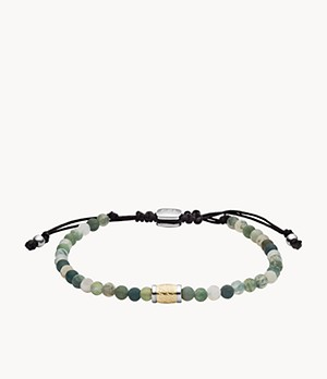 Money Gang Green Moss Agate Beaded Bracelet