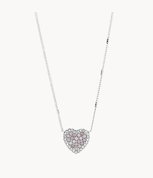 Mosaic Heart Stainless Steel Necklace