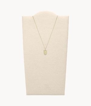 Gold-Tone Stainless Steel Pendant Necklace