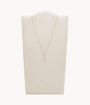 Mother's Day Gold-Tone Stainless Steel Pendant Necklace