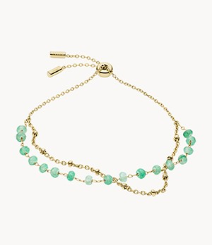 Modern Meadows Jade Beaded Bracelet