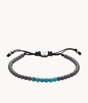Turquoise and Haematite Beaded Bracelet