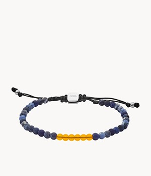 Bracciale con perline in quarzo citrino e sodalite