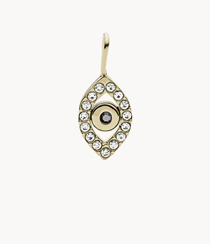 Oh So Charming Gold-Tone Stainless Steel Charm