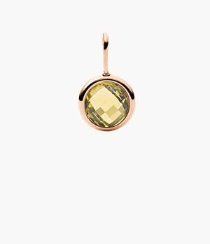 Breloque Oh So Charming en citrine