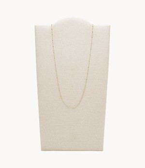 Oh So Charming Gold-Tone Stainless Steel Chain Necklace