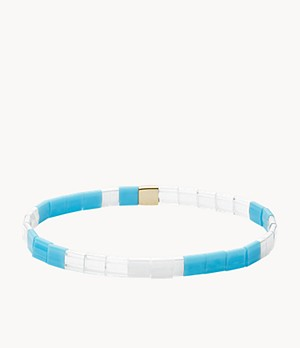 Festival Multi-Colored Blue Stack Bracelet